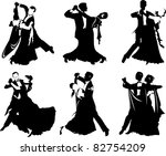 silhouettes of people dancing...