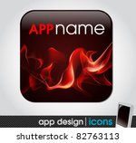 blank app icon for mobile... | Shutterstock .eps vector #82763113