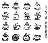 coffee cups | Shutterstock .eps vector #82765861