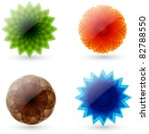 Vector Set Of Abstract  Glossy...
