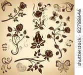 rose vintage vector design...
