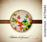 autumn vintage decoration  ... | Shutterstock .eps vector #82796683