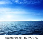 caribbean sea and perfect sky   Shutterstock . vector #82797376
