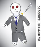 anger,banker,black,black magic,blue,broker,business,businessman,button,cartoon,corporate,credit,curse,debt,doll