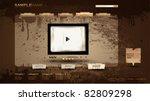 vintage portfolio website page... | Shutterstock .eps vector #82809298
