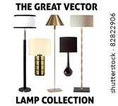 vector collection of five lamps   Shutterstock .eps vector #82822906
