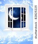 Conceptual Image   Window In Sky