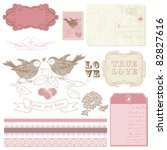 scrapbook design elements  ... | Shutterstock .eps vector #82827616