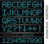 image of blue digital... | Shutterstock .eps vector #82829023