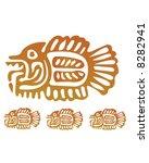 aztec fish | Shutterstock .eps vector #8282941