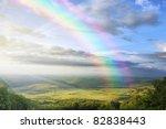 Sunrise With Rainbow On A...