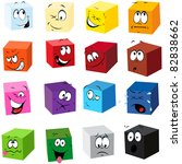color cubes with many... | Shutterstock .eps vector #82838662