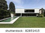 beautiful modern house outdoors ...   Shutterstock . vector #82851415