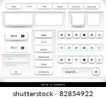set of white ui elements....