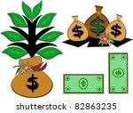 mix of money pictures | Shutterstock .eps vector #82863235