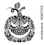 pattern in a shape of a pumpkin. | Shutterstock .eps vector #82867315