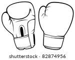 boxing gloves   Shutterstock .eps vector #82874956