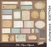 digital scrapbooking kit: old paper - different aged paper objects for your layouts | Shutterstock vector #82877434