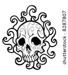 swirled skull vector | Shutterstock .eps vector #8287807