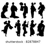 japanese dancer silhouettes