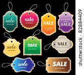 sale tag collection | Shutterstock .eps vector #82884409