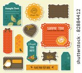 lovely gift tags collection | Shutterstock .eps vector #82884412