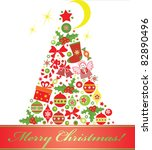 christmas tree | Shutterstock .eps vector #82890496