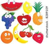 fruit set | Shutterstock .eps vector #8289109
