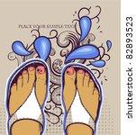 vector illustration  of  pretty ...   Shutterstock .eps vector #82893523
