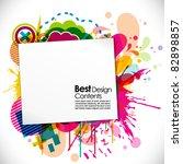 abstract modern banner theme... | Shutterstock .eps vector #82898857