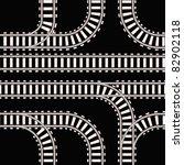 seamless background of railway... | Shutterstock .eps vector #82902118