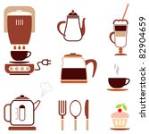 coffee   set of color vector... | Shutterstock .eps vector #82904659