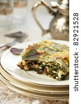 Tasty Quiche With Spinach ...