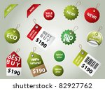 collection of sale labels and... | Shutterstock .eps vector #82927762