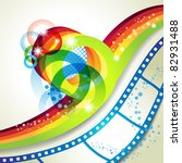 film frames over colorful... | Shutterstock .eps vector #82931488