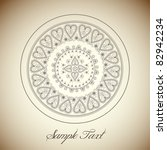 vintage greeting frame   eps10... | Shutterstock .eps vector #82942234