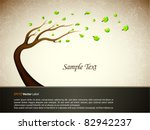 illustration with tree   eps10... | Shutterstock .eps vector #82942237