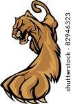 cougar mascot body prowling...   Shutterstock .eps vector #82946323