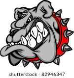 bulldog mascot cartoon face... | Shutterstock .eps vector #82946347