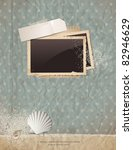 summer scrap background with...   Shutterstock .eps vector #82946629