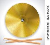 cymbals and drumsticks | Shutterstock .eps vector #82950646
