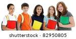 student children in colorful... | Shutterstock . vector #82950805