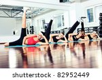 group of young women in the gym ... | Shutterstock . vector #82952449
