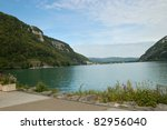 Small photo of Nantua lake in Ain, France
