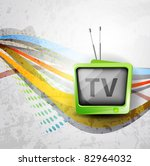 retro tv background | Shutterstock .eps vector #82964032