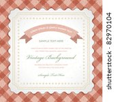 vintage invitation greeting... | Shutterstock .eps vector #82970104