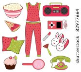slumber party set | Shutterstock .eps vector #82977664