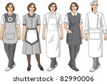 kinds of female aprons for... | Shutterstock .eps vector #82990006