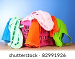 bright clothes in a laundry... | Shutterstock . vector #82991926