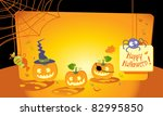halloween greeting card with... | Shutterstock .eps vector #82995850